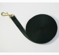 Leiband zachte nylon met handvat zwart