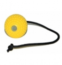 Yellow super ball met handvat
