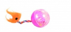 Cattoy Ratelbal met staart 2st 4CM