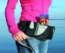 Heupgordel baggy belt Zwart-grijs 60-125 CM