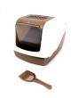 Toilethuis sybil met filter en schepje Bruin 57x48x38CM