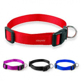nylon halsband rood